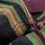 Cotton tote handbag, 'Fertile Land' - Hand Woven Striped Cotton Tote in Maroon and Black Guatemala (image 2d) thumbail