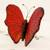Ceramic sculpture, 'Red Monarch Butterfly' - Hand Crafted Ceramic Red Monarch Butterfly Sculpture (image 2b) thumbail