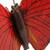 Ceramic sculpture, 'Red Monarch Butterfly' - Hand Crafted Ceramic Red Monarch Butterfly Sculpture (image 2e) thumbail