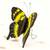 Ceramic sculpture 'Yellow Swallowtail Butterfly' - Handcrafted Ceramic Yellow Swallowtail Butterfly Sculpture (image 2b) thumbail