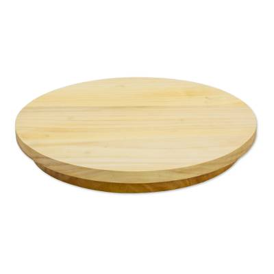 Handcrafted Cypress Wood Lazy Susan from Guatemala