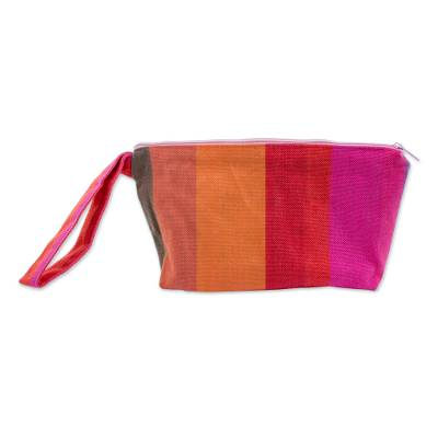 Handwoven Striped Cotton Wristlet from El Salvador