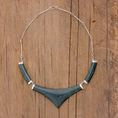 Jade statement necklace, Mayan Elite