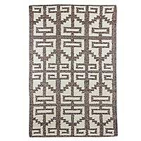 Wool area rug, 'Mayan Treasure' (4x6) - Brown and Ivory Wool Area Rug from Guatemala (4x6)