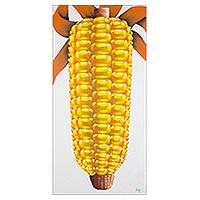 'Guatemalan Maize' - Signed Painting of Yellow Maize from Guatemala