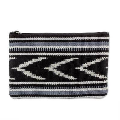 Handwoven Patterned Cotton Coin Purse Handbag from Guatemala