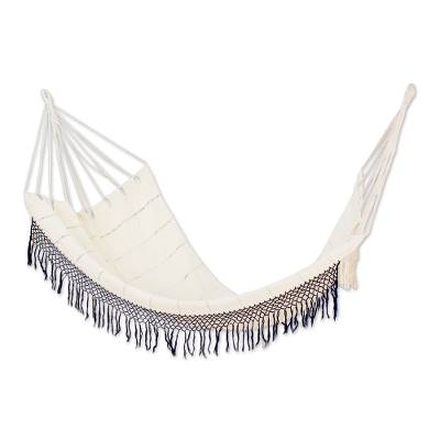 Handwoven Cotton Single Hammock in Champagne from Guatemala