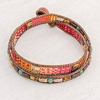 Featured review for Glass beaded wrap bracelet, Xocomil Energy