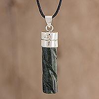 Jade locket necklace,