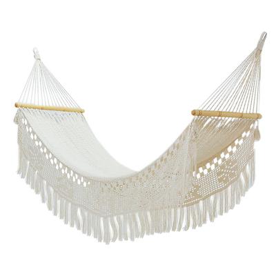 Handwoven Cotton Single Hammock from El Salvador