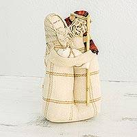 Cotton nativity scene, 'Blessings of Love' - Guatemalan Artisan Crafted Cotton and Agave Nativity Scene