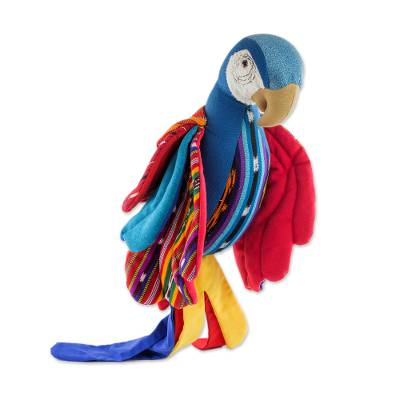 Large Guatemalan Handmade Hanging Bird Decorative Doll