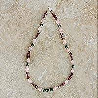 Multi-gemstone beaded necklace, 'Fantastic Combination' - Colorful Multi-Gemstone Beaded Necklace from Guatemala