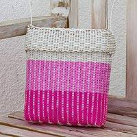 Plastic sling, 'Innocent Beauty' - Recycled Plastic Shoulder Bag in Light Orchid from Guatemala