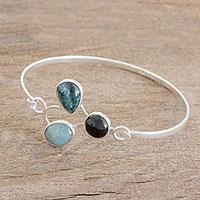 Jade pendant bracelet, 'Three Virtues' (Guatemala)