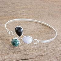 Jade pendant bracelet, 'Elegance and Poise' (Guatemala)