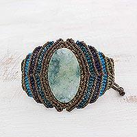 Jade pendant wristband bracelet,