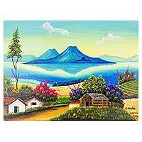 'El Mirador' - Signed Landscape Painting from Guatemala
