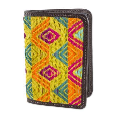 Diamond Motif Cotton Passport Wallet from Guatemala