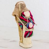 Cotton and palm nativity set, 'Boundless Love' - Colorful Nativity Figures of Woven Palm Leaves and Fabric