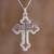 Sterling silver pendant necklace, 'Eternal Faith' - Handcrafted Sterling Silver Cross Pendant Necklace thumbail