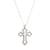 Sterling silver pendant necklace, 'Eternal Faith' - Handcrafted Sterling Silver Cross Pendant Necklace (image 2a) thumbail