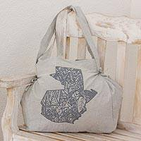 100% cotton shoulder bag,
