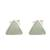 Jade stud earrings, 'Triangle Allure' - Jade and Sterling Silver Triangle Stud Earrings (image 2a) thumbail