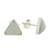 Jade stud earrings, 'Triangle Allure' - Jade and Sterling Silver Triangle Stud Earrings (image 2c) thumbail