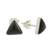 Jade stud earrings, 'Triangle Mystique' - Black Jade and Sterling Silver Triangle Stud Earrings (image 2c) thumbail