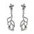 Sterling silver dangle earrings, 'Graceful Flowers' - Sterling Silver Floral and Vine Motif Dangle Earrings (image 2a) thumbail