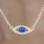 Sterling silver pendant necklace, 'Beautiful Baby Blues' - Handcrafted Sterling Silver Blue Eye Pendant Necklace thumbail