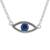 Sterling silver pendant necklace, 'Beautiful Baby Blues' - Handcrafted Sterling Silver Blue Eye Pendant Necklace (image 2a) thumbail