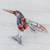 Blown glass figurine, 'Color in Motion' - Handcrafted Colorful Hummingbird Blown Glass Figurine thumbail