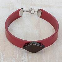Coconut shell wristband bracelet,