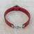 Coconut shell wristband bracelet, 'Resilient' - Burgundy Wristband Bracelet with Coconut Shell Pendant (image 2b) thumbail