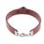 Coconut shell wristband bracelet, 'Resilient' - Burgundy Wristband Bracelet with Coconut Shell Pendant (image 2c) thumbail