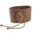 Leather wristband bracelet, 'Powerful' - Brown Leather Coconut Shell Pendant Wristband Bracelet (image 2c) thumbail