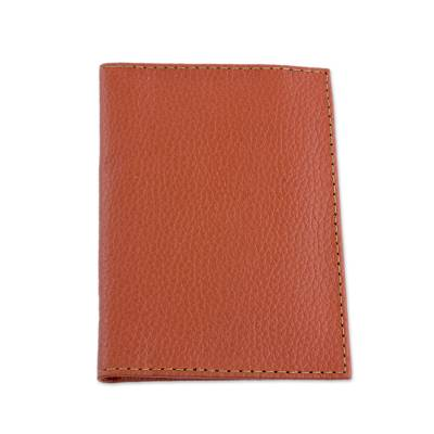 Hand Cut and Stitched Terracotta Bi-Fold Leather Wallet