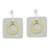 Brass and aluminum dangle earrings, 'Combination of Forms' - Square Brass and Aluminum Dangle Earrings from Guatemala (image 2a) thumbail