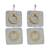 Brass and aluminum dangle earrings, 'Shining Modernity' - Square and Circle Motif Brass and Aluminum Earrings (image 2a) thumbail