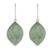 Jade reversible dangle earrings, 'Vibrant Leaves' - 2-Tone Green Jade Dangle Earrings Crafted in Guatemala (image 2a) thumbail