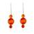 Agate drop earrings, 'Sweet Orange' - Orange Agate Drop Earrings from Guatemala (image 2a) thumbail