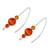 Agate drop earrings, 'Sweet Orange' - Orange Agate Drop Earrings from Guatemala (image 2c) thumbail