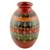 Ceramic decorative vase, 'Graceful Symmetry' - Nicaraguan Decorative Ceramic Vase with Hand Etched Design (image 2a) thumbail