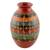 Ceramic decorative vase, 'Graceful Symmetry' - Nicaraguan Decorative Ceramic Vase with Hand Etched Design (image 2b) thumbail