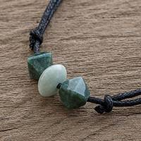 Jade pendant necklace, 'Contemporary Maya' - Green Jade Pendant Necklace Crafted in Guatemala