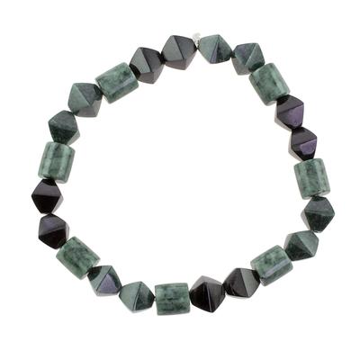 Jade Bead Stretch Bracelet from Guatemala