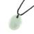 Jade pendant necklace, 'Ancient Splendor' - Green Jade Pendant Necklace with Cotton Cord (image 2c) thumbail