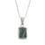 Jade pendant necklace, 'Roped Facets' - Faceted Jade Pendant Necklace from Guatemala (image 2c) thumbail